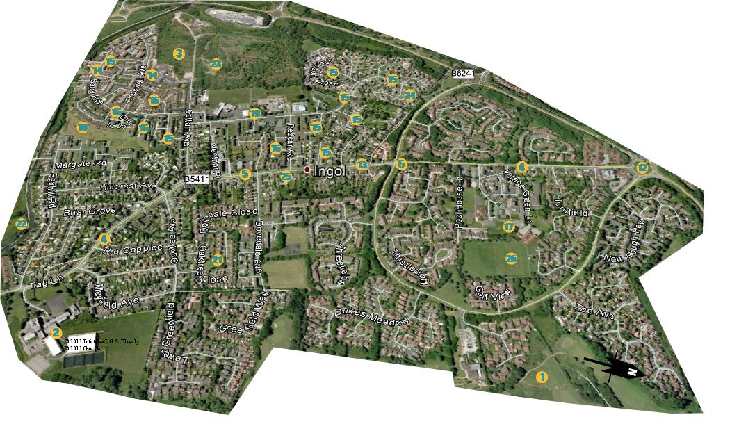 Ingol Map April 2014