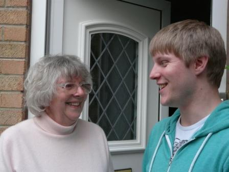 Neil with local resident