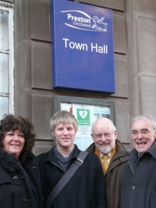 Neil with Ingol &Tanterton Team at Town Hall